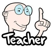 Teacher man royalty free illustration