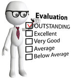 Teacher manager check evaluation form report Royalty Free Stock Photos