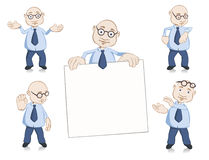 Teacher mascot set with five poses Stock Image