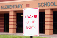 Teacher of the month Royalty Free Stock Image