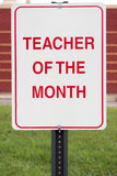 Teacher of the month Royalty Free Stock Photo