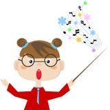 Teacher of the music Stock Image