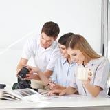 Teacher in photo workshop Stock Photos