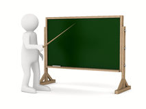 Teacher with pointer at blackboard Stock Photography