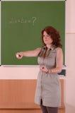 Teacher pointing the student Stock Photos
