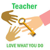 Teacher poster Royalty Free Stock Photography