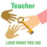 Teacher poster vector illustration