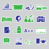Teacher profession and teaching stickers Royalty Free Stock Images