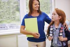 Teacher with pupil Stock Photos