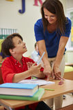 Teacher with pupil Stock Images