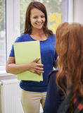 Teacher with pupil Royalty Free Stock Photography
