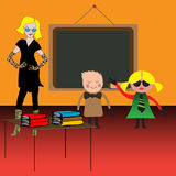 Teacher with pupils Royalty Free Stock Image