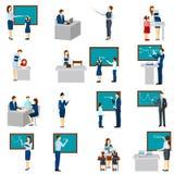 Teacher And Pupils Flat Icons  Set Royalty Free Stock Photos