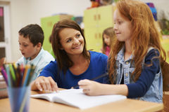 Teacher with pupils Stock Images