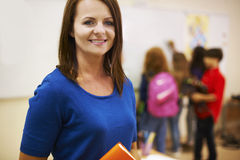 Teacher with pupils royalty free stock photography