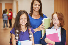 Teacher with pupils Royalty Free Stock Images