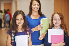 Teacher with pupils Stock Photography