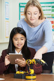 Teacher With Pupils In Science Lesson Studying Robotics Royalty Free Stock Photo