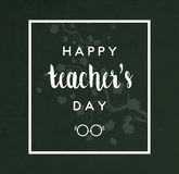 Teacher`s Day Card Stock Images