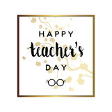 Teacher`s Day Card Stock Image