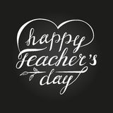 Teacher`s day card as handdrawn lettering for your decoration Royalty Free Stock Photography