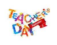 Teacher`s day congratulation card Royalty Free Stock Photos
