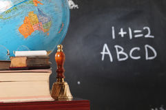 Teacher`s desk Royalty Free Stock Photos