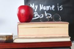 Teacher`s desk Stock Images