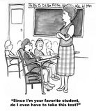 Teacher's Favorite Student Stock Photography