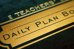 Teacher's Plan Book. The teacher's daily plan book and student log Stock Photo
