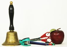 Teacher's supplies Royalty Free Stock Images