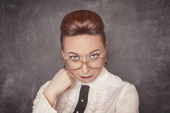 Teacher with sad expression royalty free stock photography