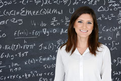 Teacher. At school in the classroom ready for work royalty free stock photo