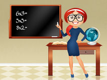 Teacher a school. Illustration of teacher a school Stock Photos