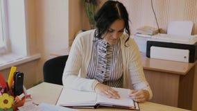 Teacher in the school stock video