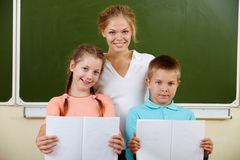 Teacher and schoolkids Royalty Free Stock Photography