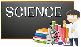 Teacher and science subject at school. Illustration Stock Image