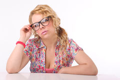 Teacher at the secretary Royalty Free Stock Photo
