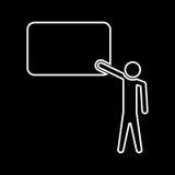 Teacher standing near whiteboard white color icon . Royalty Free Stock Photos