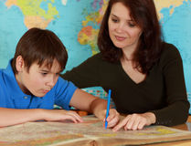 Teacher and student Stock Image