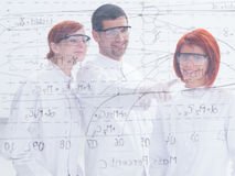 Teacher and student in lab Stock Image