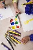 Teacher And Student Painting Stock Photography