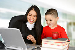 Teacher and student Stock Photo
