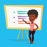 Teacher or student standing in front of board. Royalty Free Stock Photos