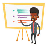 Teacher or student standing in front of board. Stock Images