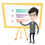 Teacher or student standing in front of board. Stock Photos