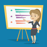 Teacher or student standing in front of board. Royalty Free Stock Photo