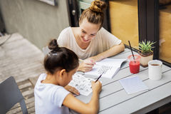 Teacher Student Tutor Homework Lesson Concept.  Stock Photos