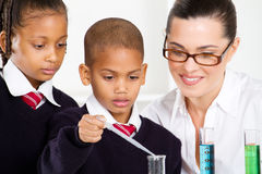 Teacher and students stock image