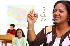 Teacher and Students Royalty Free Stock Photos
